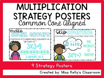 Multiplication Strategy Posters (Common Core Aligned)