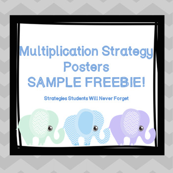Multiplication Strategy Posters, Freebie Sample