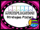 Multiplication Strategy Posters NEON