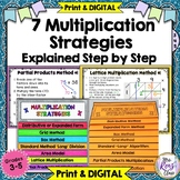Multiplication Strategies Methods Step by Step Color Coded