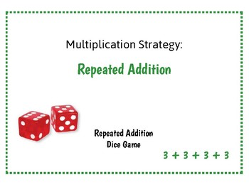 Multiplication Strategy Repeated Addition Dice Game