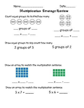 Multiplication Strategy Review