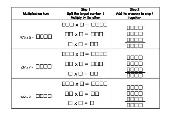 Multiplication Strategy - Split strategy, Partial products , partitioning