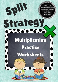 Multiplication Strategy - Split strategy, Partial products