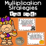 Multiplication Strategy Task Cards for Third Grade {Hallow