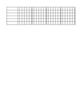 Multiplication Strategy Tracking Form