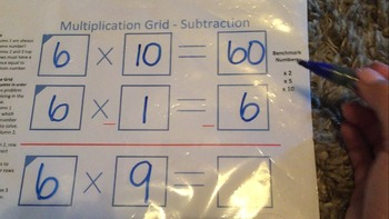 Multiplication Strategy with Subtraction