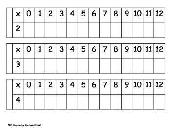 Multiplication Strip Book