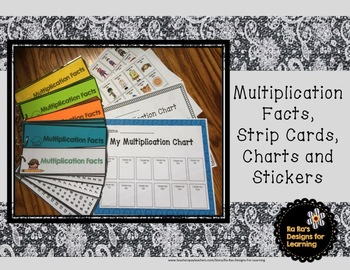 Multiplication Strips, Charts and Stickers