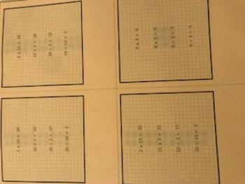 Multiplication Subitizing Dot Cards Student Set