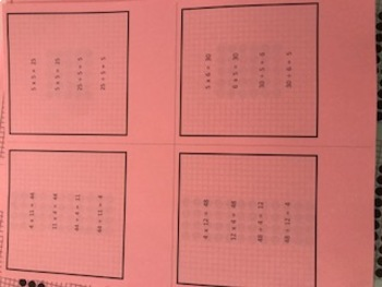 Multiplication Subitizing Dot Cards Teacher and Student Set