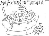Multiplication Sundae 0's - 12's