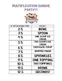 Multiplication Sundae Party