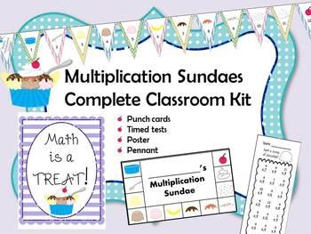 Multiplication Sundaes Complete Classroom Kit