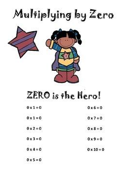 Multiplication Super Hero Packet #1