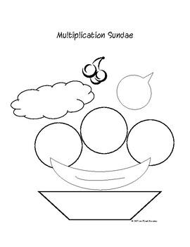 Multiplication Sundae Activity for 1digit x 1digit