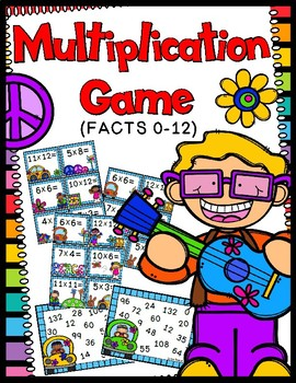 Multiplication Game - Multiplication Facts 0-12 - 50 Multiplication Task Cards!