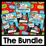 Multiplication Facts Practice   Bundle   Superhero Theme