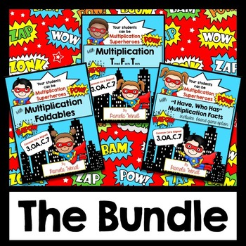 Multiplication Superheroes Bundle -  CCSS Aligned