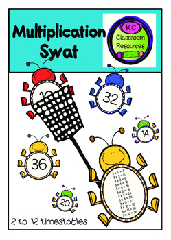 Multiplication Swat - Multiplication Tables - Maths Centers/ Rotations - Games