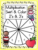 Multiplication Swirl and Color, 2's & 3's