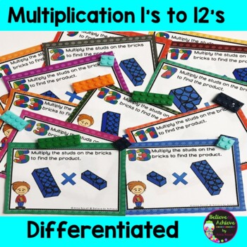 Multiplication TASK cards! Color Coded! Facts 1's to 12's! 288 Task Cards!
