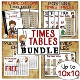 NEW - Multiplication – TIMES TABLES – Up to 10x10 bundle for Harry Potter fans