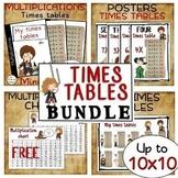 Multiplication BUNDLE TIMES TABLES for Harry Potter fans m