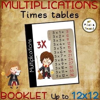 MINI BOOK - 12 TIMES TABLES – Up to 12x12 - MULTIPLICATION