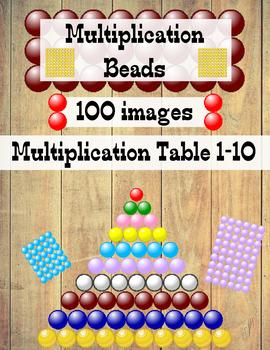 Multiplication Table Beads Clip Art