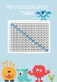 Multiplication Table Chart Poster Free Math