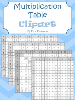 Multiplication Table Clipart