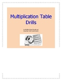 Multiplication Table Drills Unit