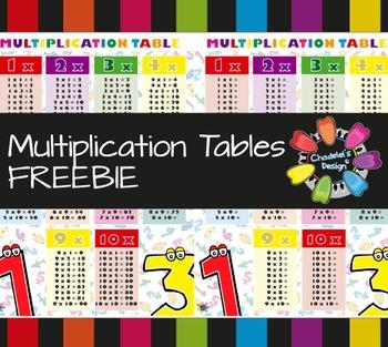 Multiplication Table FREEBIE