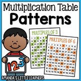 Multiplication Table Patterns in Multiples - Posters and Mini Book