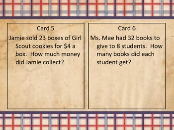 Multiplication Table Talk Cards
