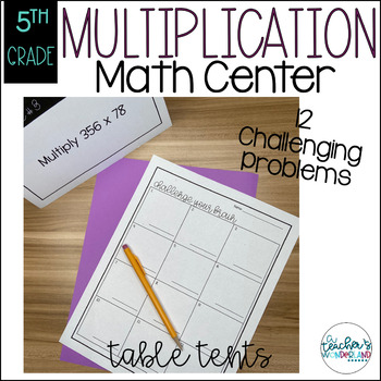 Multiplication Table Tents Challenges