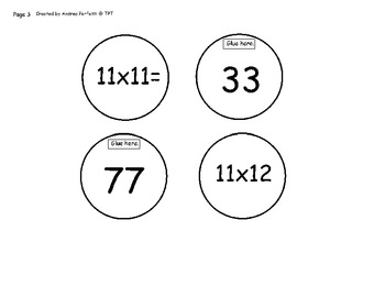 Multiplication Tables: 7 Through 12  A Caterpillar Lift Flap Activity Pt.2