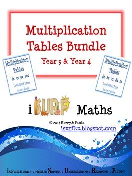 Multiplication Tables Bundle - Yr 3 & Yr 4
