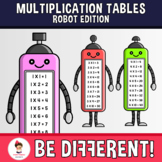 Multiplication Tables Clipart Robot Edition Math Basic Operations Back To School
