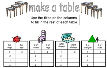 Multiplication Tables Folder Center
