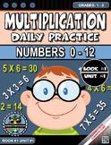 Multiplication Morning Warm-Up Practice #0-12 Grades 1-3