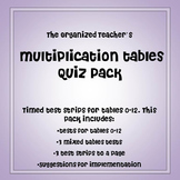 Multiplication Tables Quiz Pack