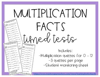 Multiplication Tables Quizzes