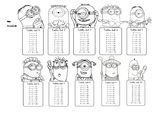 Minions Multiplication Tables. Spanish titles.
