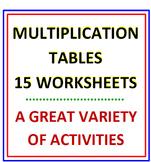 Multiplication Tables Worksheets