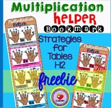 Multiplication Tables and Tips BOOKMARK- Freebie