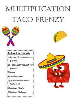 Multiplication Taco Frenzy - Monster Theme