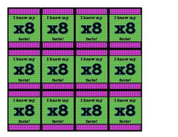 Brag Tags- Multiplication