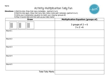 Multiplication Tally (groups of game)